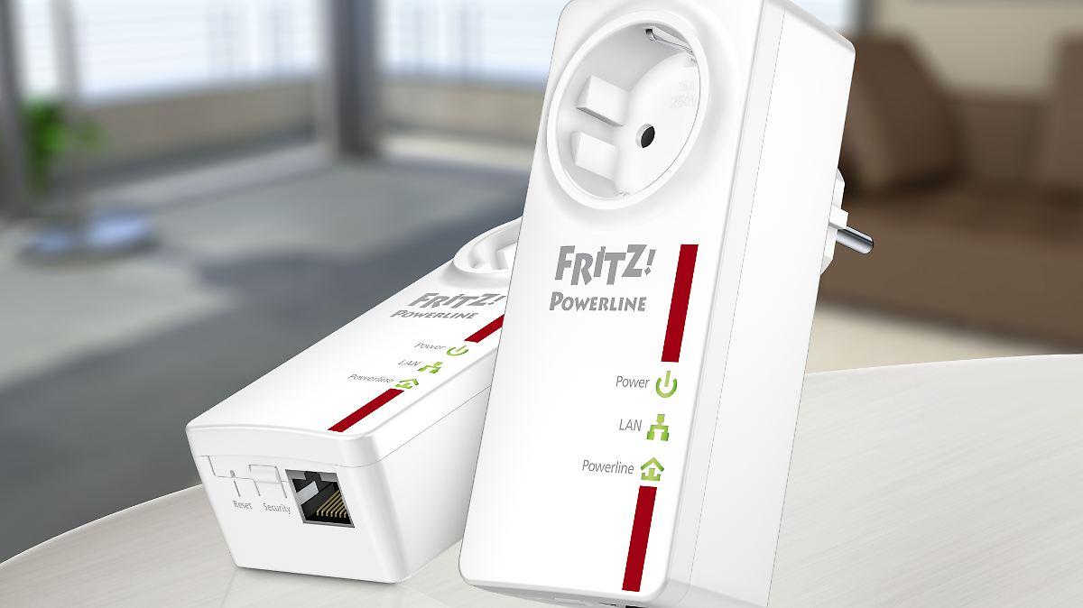 fritzpowerline 520e eingesteckt heimnetz ber die steckdose n. Black Bedroom Furniture Sets. Home Design Ideas