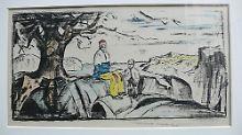 Handkolorierte Lithographie Munchs, die vor einigen Tagen aus einer Osloer Kunstgalerie gestohlen wurde.