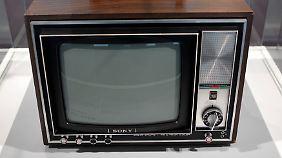 Sonys erster Farbfernseher aus dem Jahr 1968.