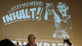 Während des Parteitages der Piratenpartei des Landesverbandes Sachsen-Anhalt in Magdeburg.