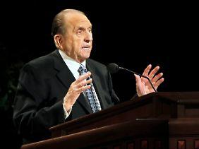 Der 16. Prophet der Mormonen: Thomas S. Monson.