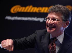 Gute Laune zur Hauptversammlung: Der Vorstandsvorsitzende der Continental AG, Elmar Degenhart.