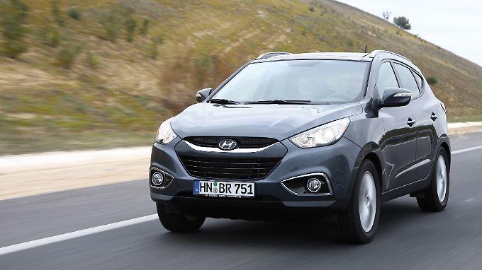 Der Hyundai ix35 legte 2160 Kilometer mit einem Wasserstoffantrieb zurück.