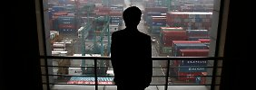 Blick auf den Hafen von Shanghai.
