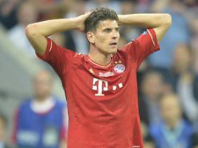 Überlegen, aber kopflos: Die Bayern-Offensive um Mario Gomez ging geradezu verschwenderisch mit ihren Chancen um.