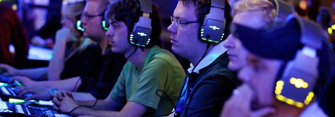 Auf der Spielemesse Gamescom in Köln.