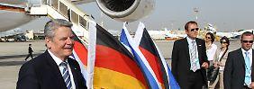 Bei seinem Besuch in Israel möchte Gauck Solidarität mit dem Land signalisieren.