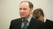 Breivik im Gerichtssaal.