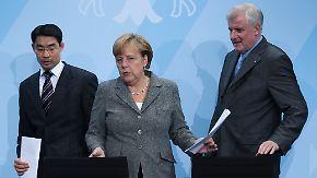 """Spitzentreffen im Kanzleramt: Opposition spricht von """"Kuhhandel"""""""