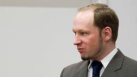 Breivik während des Prozesses.