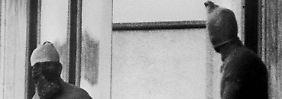 Aufnahme der Attentäter während der Geiselnahme im September 1972.
