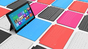 Surface lässt sich mit einer Tastatur als handliches Notebook nutzen.