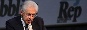 Italiens Regierungschef Monti fürchtet Spekulationsattacken, falls der Eurozone nicht bald der große Wurf in der Krise gelingt.