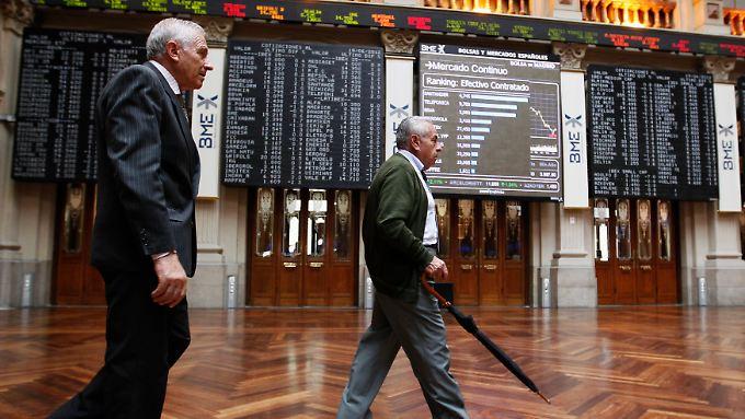 Auf dem Parkett der Börse Madrid deuten sich große Wechselspiele an.