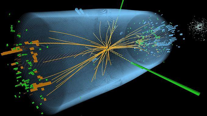Das Higgs-Teilchen zerfällt im Bruchteil einer Sekunde.