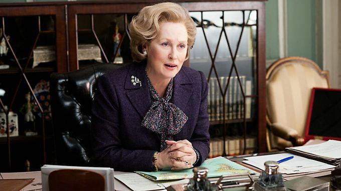 """Resolut, durchsetzungsstark - und die Frisur sitzt: Meryl Streep in der Rolle der """" Eisernen Lady""""."""