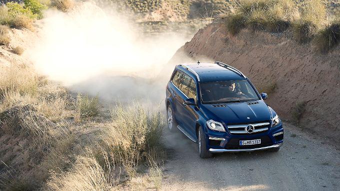 Wirbelt mächtig Staub auf: die zweite Generation des Mercedes GL.