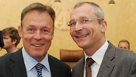 Oppermann (SPD, l.) und Beck (Grüne) hatten mit ihrer Beschwerde Erfolg.