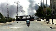 Eine Hoffnung auf Beruhigung der Lage in Aleppo gibt es derzeit nicht.