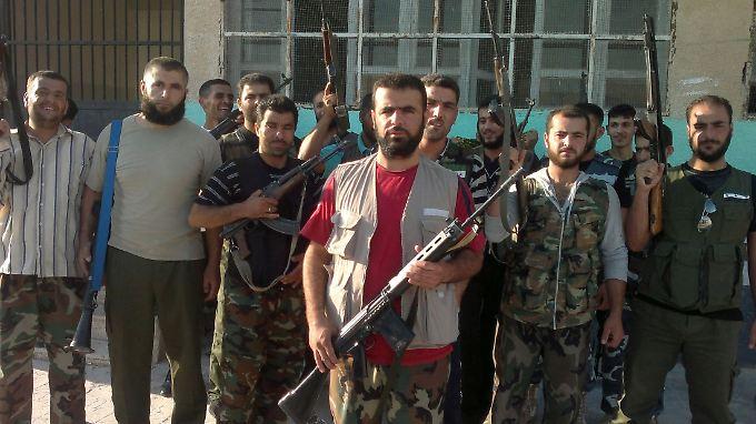 Mitglieder der Freien Syrischen Armee in der Region Idlib im Nordwesten Syriens.
