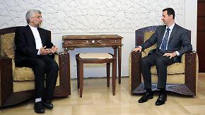 Teheran will Regimewechsel nicht zulassen: Assad empfängt Irans Abgesandten