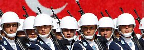 Teil der Nato: Türkische Truppen beim Exerzieren.