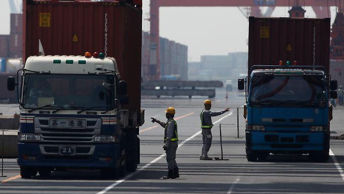 Japans Wirtschaft lebt von den Exporten.