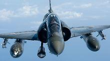 Ein Kampfflugzeug der Nato im Einsatz in Libyen.