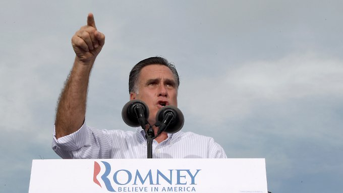 Mitt Romney in Miami, Florida.