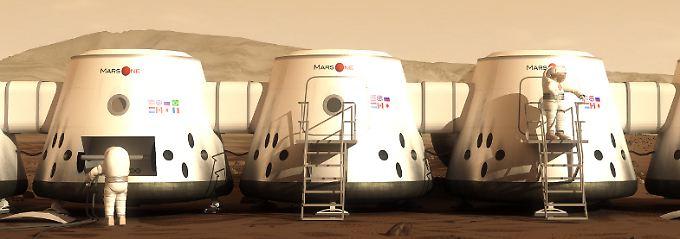 Eine holländische Vision: Leben in Wohnmodulen auf dem Mars.