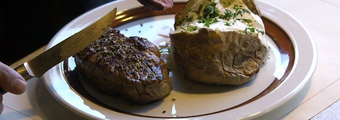 Alles bald aus dem Drucker? Dies ist noch ein Rinder-Steak aus Südamerika.