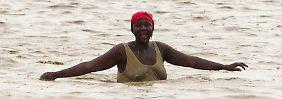 In Haiti traten - wie in Kuba - Flüsse über die Ufer.