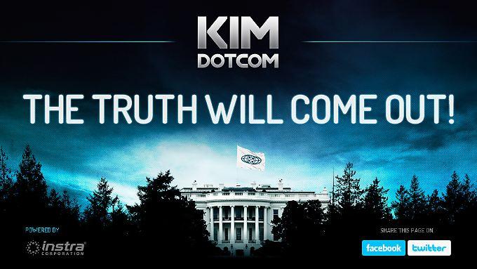 Kim Schmitz inszeniert sich auf seiner Internetseite als Freiheitskämpfer.