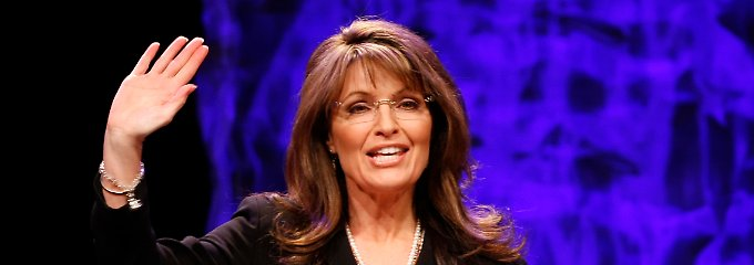 """Der """"Pitbull mit Lippenstift"""" ist zurück: Sarah Palin auf der """"National Tea Party Convention"""" in Nashville."""