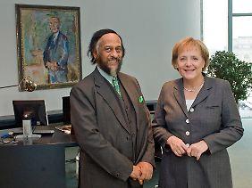 Bundeskanzlerin Angela Merkel hatte Rajendra Pachauri Anfang Dezember 2009 empfangen.