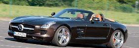 Braucht man mehr? Der SLS AMG Roadster ist rollender Überfluss. Besonders dann, wenn er ausgestattet ist wie das Testfahrzeug.
