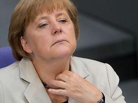 Will sich ihren Haushalt nicht madig machen lassen: Kanzlerin Angela Merkel.