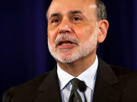 """Eine Art Draghi-Schwur von Bernanke: """"Sollte der Wirtschaft die Puste ausgehen, sind wir zum Handeln bereit""""."""
