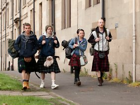 """Hat etwas von der """"Olsenbande"""": Robbie und seine Freunde machen sich auf in die Highlands."""