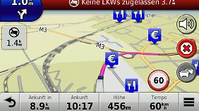 Zusätzlich im DAB-Gerät: die LKW-Informationen.