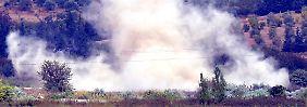 Beim Einschlag syrischer Raketen in der Türkei.