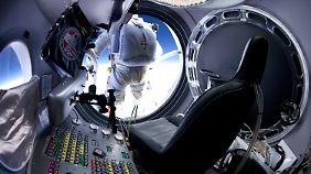 Blick in die Raumkapsel.
