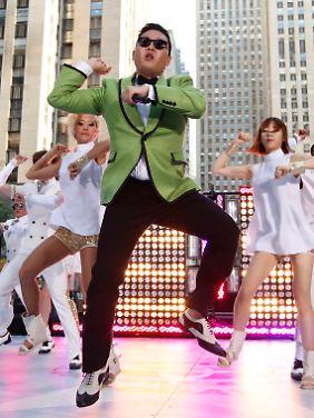 Stein des Anstoßes: Rapper Psy mit seinem Gangnam-Style-Tanz.