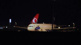 Der syrische Passagierjet wurde in Ankara durchsucht.
