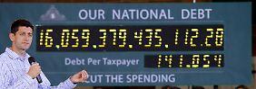 Die Schuldenuhr tickt auch in den USA - und das immer schneller.