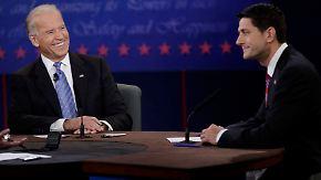 Harter Schlagabtausch im TV-Duell: Biden geht Ryan aggressiv an