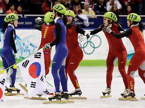 Die Südkoreanerinnen durften sich nur wenige Minuten als Sieger fühlen.