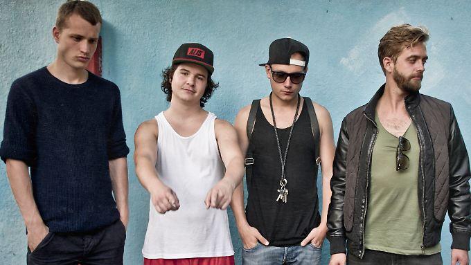 """Lukas Graham, das sind: (v.l.n.r.) Magnus, Lukas, Mark, Casper - und alles andere als eine """"Boy Band""""."""
