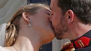 """Kleines Land, großer Kuss: Guillaume und Stéphanie sagen """"Jo"""""""