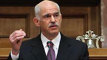 """Markige Worte von Papandreou: Griechenland befindet sich in einer """"Kriegssituation""""."""